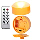 """Halloween Led Pumpkin Light with Remote and Timer,Battery Operated Flameless candles for Jack-O-Lantern( 1""""x2.6""""Set of 2)"""