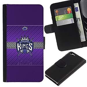 Stuss Case / Funda Carcasa PU de Cuero - Sacramento Rey de Baloncesto - Apple Iphone 6