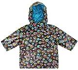 Capelli New York Toddler Girls Painters Love Peace Rain Slicker Black Combo 3T