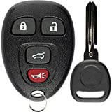 KeylessOption Keyless Entry Remote Control Car Key Fob Replacement for 15913416 with Key