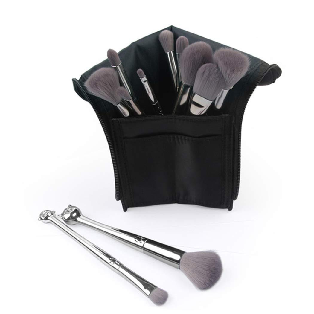 a046d0329394 Amazon.com: 12x New Makeup Brush Set 12 Zodiac Shape and Brush Bag ...