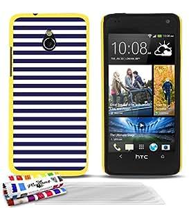 """Carcasa Rigida Ultra-Slim HTC ONE MINI (M4) de exclusivo motivo [Marinero azul] [Amarillo] de MUZZANO  + 3 Pelliculas de Pantalla """"UltraClear"""" + ESTILETE y PAÑO MUZZANO REGALADOS - La Protección Antigolpes ULTIMA, ELEGANTE Y DURADERA para su HTC ONE MINI (M4)"""