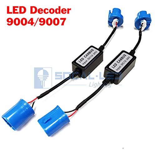 SOCAL-LED-2x-EMC-Headlight-Kit-CANBUS-LED-Decoder-Anti-Flicker-Error-Canceller-Relay-Resistor-Adapter