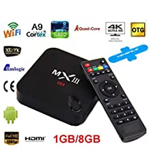 Vensmile® High Quality Vsmart Mxiii 1g/8g Android 4.4 Dlna Airplay Miracast 4k*2k Smart Tv Box Xbmc Media Player Miracast Mini Pc Bluetooth Amlogic S802 Quad-core 802.11ac 2.4/5ghz Wifi H.265 4k 1080p Xbmc Iptv Smart Tv