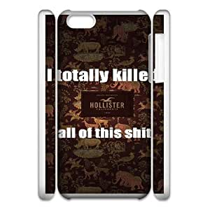 Personalized Durable Cases iphone5c 3D Cell Phone Case White Hollister Co Qslew Protection Cover