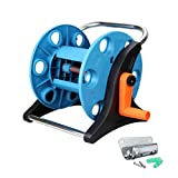 Wall Mount Portable Rotating Garden Water Hose Reel Cart With Bracket Holder