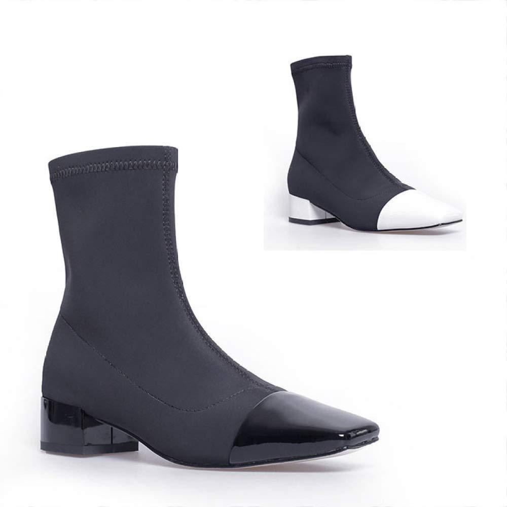 Größe Schwarz, (Farbe 34 39 Schuhe Warme Damenschuhe Nähte