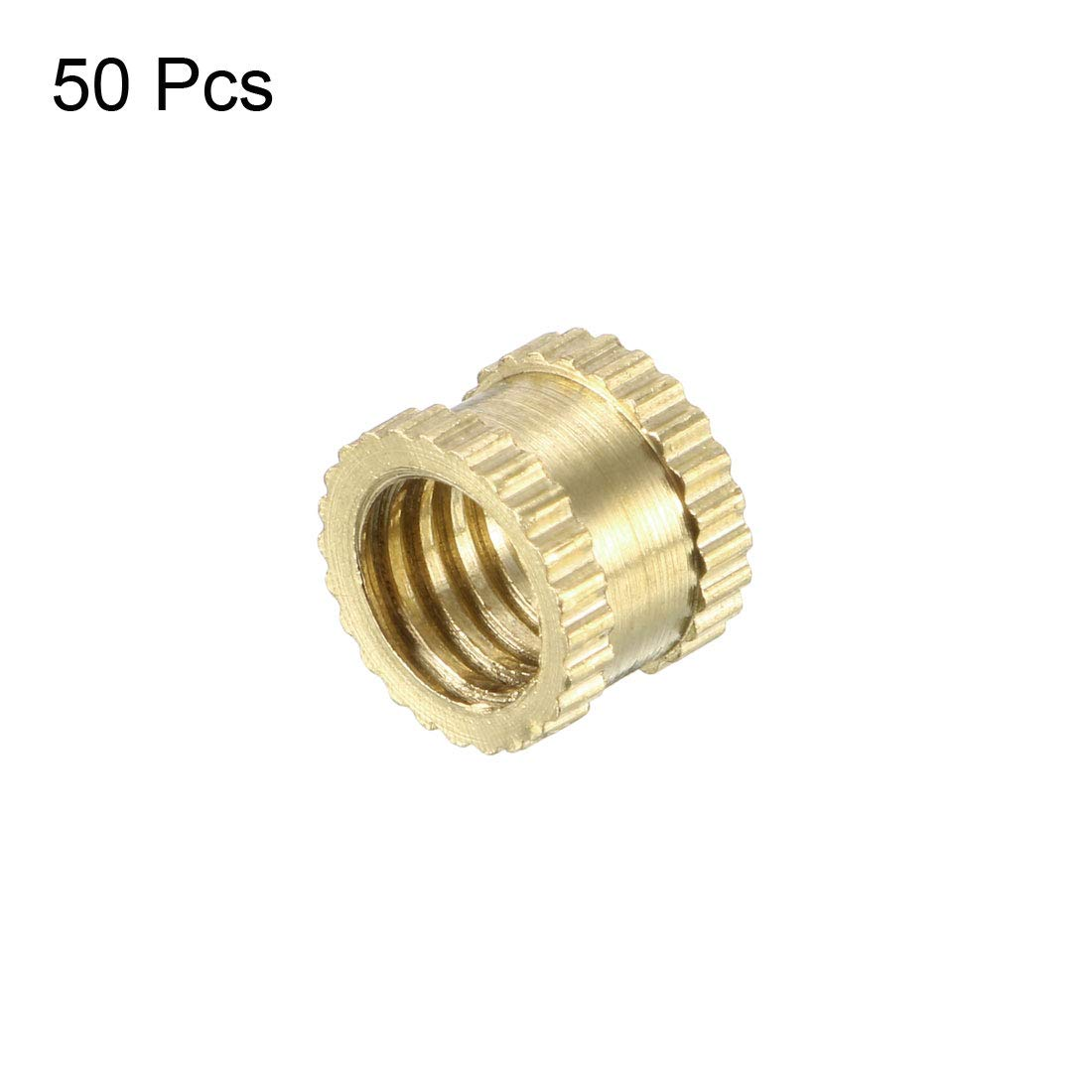 x 8mm 1//4-20 x 6mm OD L L Female Thread Brass Embedment Nuts uxcell Knurled Threaded Insert Pack of 25 1//4-20 x 6mm OD x 8mm Female Thread Brass Embedment Nuts