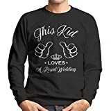 Coto7 Harry and Meghan This Kid Loves A Royal Wedding Men's Sweatshirt