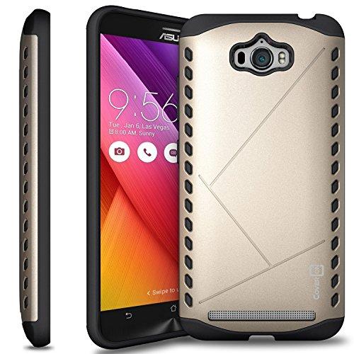 Slim Fit Hybrid Shockproof Case for Asus Zenfone Max ZC550KL (Gold) - 1