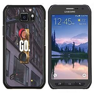 Dragon Case - FOR Samsung Galaxy S6 active/G870A/G890A (Not Fit S6) - caring you all the time - Caja protectora de pl??stico duro de la cubierta Dise?¡Ào Slim Fit