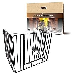 De Vielle DEF760621 Griglia di sicurezza per proteggere i bambini dal fuoco, Metallo, Nero, 91 x 76 x 70 cm 1 spesavip