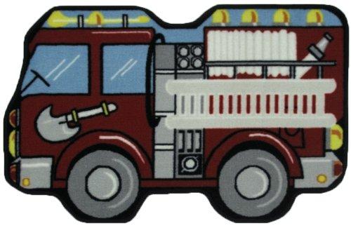 LA Rug Fire Engine Rug 31 x47