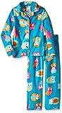 Komar Kids Big Girls' Micro Fleece 2 Piece Owl Coat Set, Turquoise, X-Small