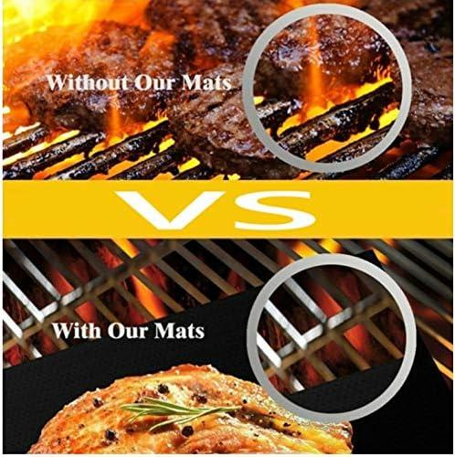 Antihaft-Teflon-Grillmatte 5PCS Barbecue Backen Hitzebeständige Kochmatte Wiederverwendbar Easy Clean Picknick Küchengrill im Freien