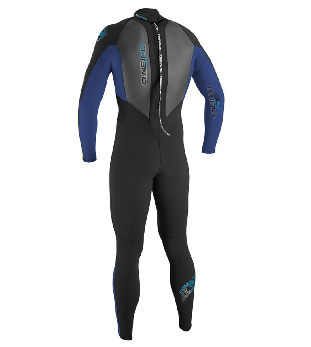 O'Neill Youth Reactor 3/2mm Back Zip Full Wetsuit, Black/Pacific/Black, 12 by O'Neill Wetsuits (Image #2)