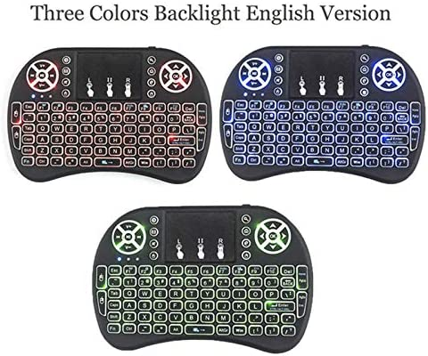 Color: 3color english i8 Calvas 10pcs//lot i8 Wireless Keyboard 2.4 GHz Russian or English Letters Multi-Media Air Mouse Touchpad Remote Control For Android BOX