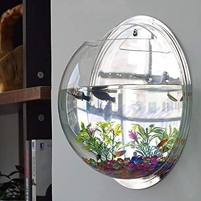 SimpleLife Pot Wall Hanging Mount Bubble Aquarium Bowl Fish Tank Acuario Decoración del Hogar
