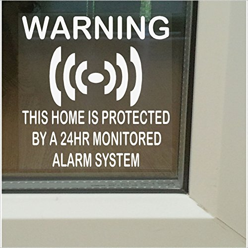 arm System Warning Signs (Window Stickers Set) ()