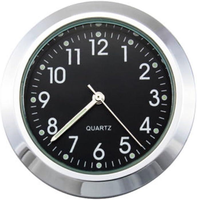Wpond 22 25mm Motorrad Lenker Uhr Thermometer Wasserdichtes Zifferblatt Lenkerhalterung Für Yamaha Kawasaki Etc Black Dial Clock Watch Sport Freizeit