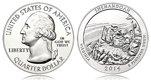 - 2014 America The Beautiful 2014 Silver Shenendoah Virginia Proof Quarter Quarter Very Good