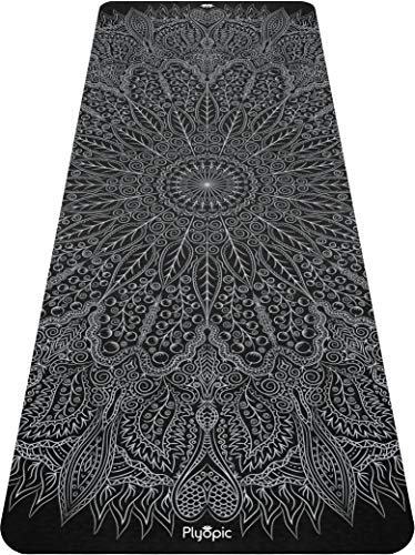 Plyopic Printed Yoga Mat   Non-Slip, Eco-Friendly TPE Exercise Mat for All Types of Yoga, Pilates, Training, Fitness and…