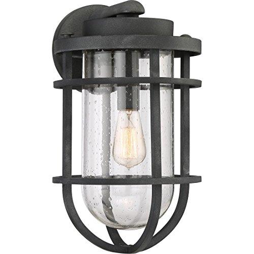 Quoizel BRD8410MB One Light Outdoor Wall Lantern, Large, Mottled (Black Large Wall Lantern)