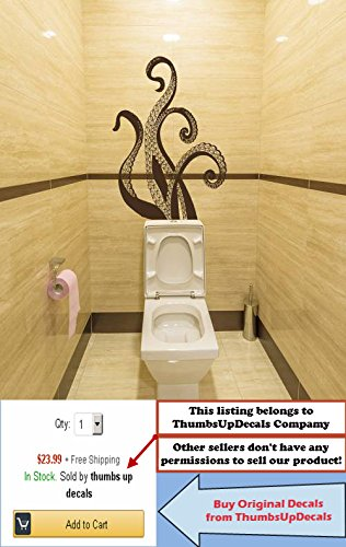 OCTOPUS TENTACLES Wall Decals Bathroom Decor Sea Ocean Animals Vinyl ...