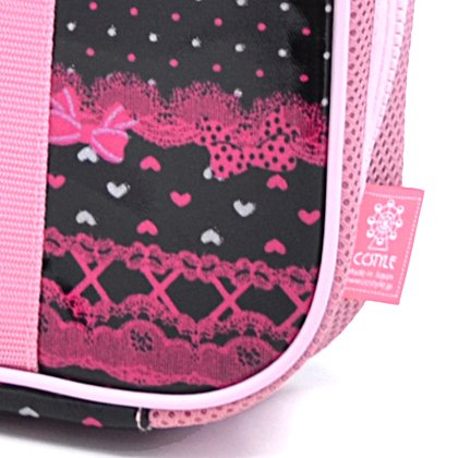 In the race pattern and ribbon (only bag) Kids Calligraphy, penmanship bag rated on style Pretty cute (black) made in Japan N2201000 (japan import)
