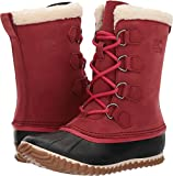 SOREL Womens Caribou Slim Snow Boot, Red Element, 9 B(M) US