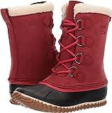 SOREL Womens Caribou Slim Snow Boot, Red Element, 8.5 B(M) US