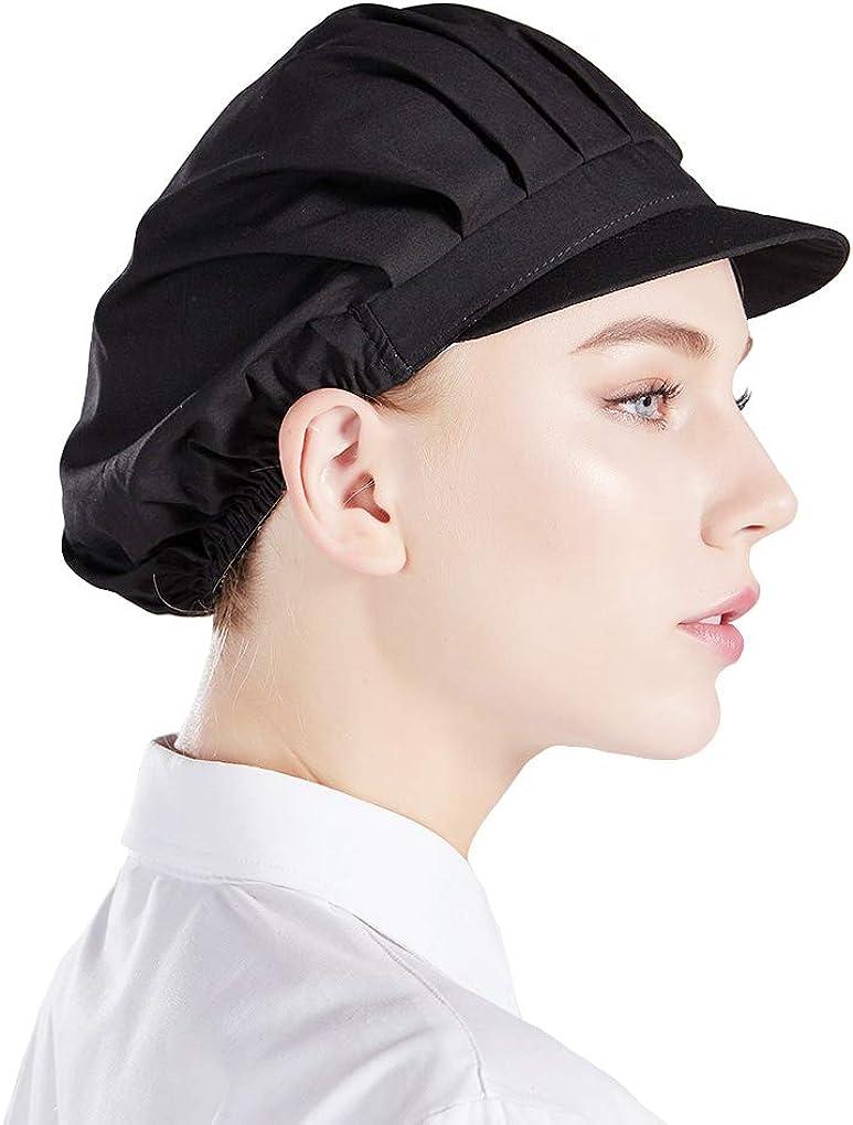 Nanxson 3pcs Unisex Chef Hat Elastic Chef Cap Kitchen Baking Cooking Hat for Men Women CF9035