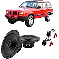 Fits Jeep Cherokee 1997-2001 Front Door Factory Replacement Harmony HA-R65 Speakers New