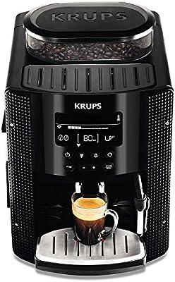 Krups EA815070 - Cafetera automática 15 bares de presión, pantalla LCD, 3 niveles de intensidad, programa automático ...