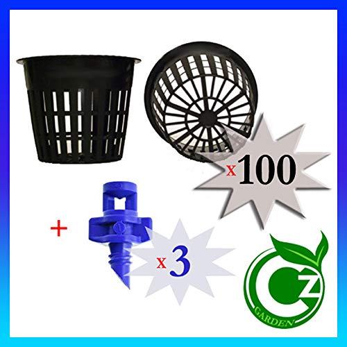 - Cz Garden Supply 100 Pack - 3 inch Round Heavy Duty Net Cups Pots Wide Lip Design - Orchids • Aquaponics • Aquaculture • Hydroponics • Wide Mouth Mason Jars • Slotted Mesh + Free Micro Sprayers