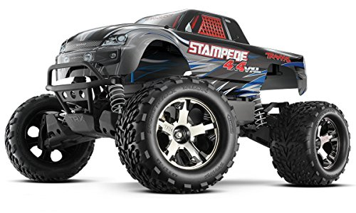 Traxxas Automobile 67086-4 Stampede 4X4 1 10 Monster Truck with Tqi 2.4GHz Radio Tsm - Silver