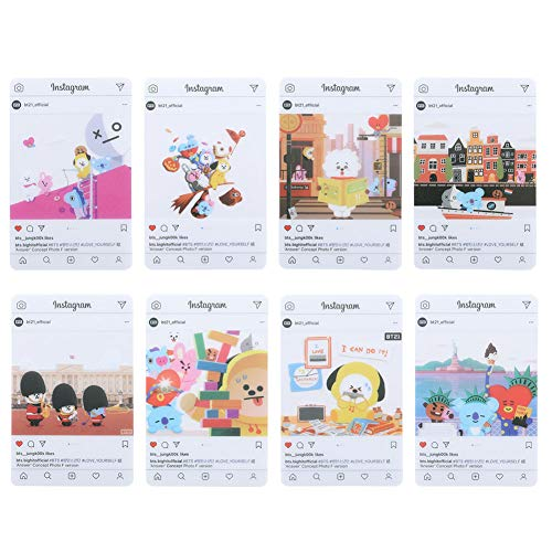 Youyouchard BTS Bangtan Boys Love Yourself 结Answer BTS Photocards Kpop BTS Transparent Cards TPU Bangtan Boys Suga Jimin Jungkook Photo(H11: (7PCS))