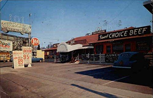 Wagon Ames - Original 101 Chuck Wagon San Diego, California Original Vintage Postcard