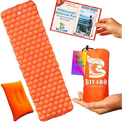 BIVARO Ultralight Sleeping Pad for Backpacking -Travel and H