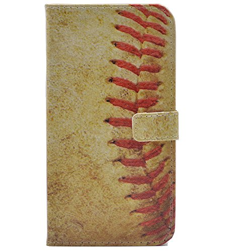 Galaxy S8 Plus Case Baseball Vintage Retro Pattern Leather Wallet Credit Card Holder Pouch Flip Stand Case Cover For Samsung Galaxy S8 Plus (2017) Baseball Cell Phone Holder