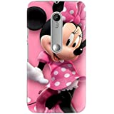 Clapcart Mickey Mouse Printed Back Cover for Moto G 3rd Gen / Moto G Turbo Edition -Multicolor