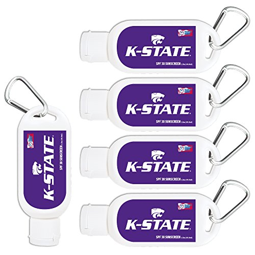 - Kansas State Wildcats Sport Sunscreen 5-Pack SPF 30 Travel Size with Clip, Water and Sweat Resistant 80 Minutes, UVA UVB Protection. NCAA Gifts for Men and Women.