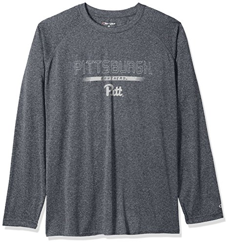- NCAA Pittsburgh Panthers Men's Champion Team Stealth Long sleeve Tee, Charcoal Heather, XX-Large