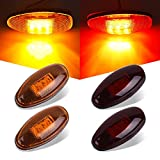 Catinbow 2x Amber + 2x Red Front Rear LED Side Marker Light For 1999-2012 Chevrolet GMC