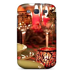 New Table Plates Candles Glasses Fire Romance Tpu Case Cover, Anti-scratch SeoDWsW392HTJGC Phone Case For Galaxy S3