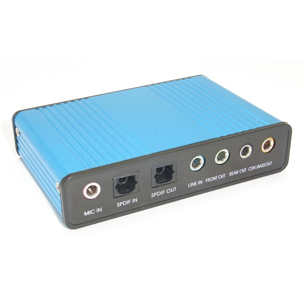 Sienoc 6CH USB Optical Sound Box Audio 5.1ch Card Adapter for Laptop PC