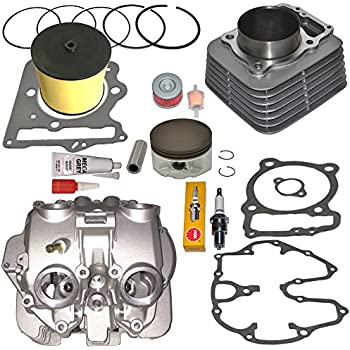 amazon com honda trx400ex trx 400ex cylinder head polished ports Engine Head Parts Diagram honda trx400ex trx 400ex cylinder and head with polished ports valve cover piston rings gasket 1999 2008