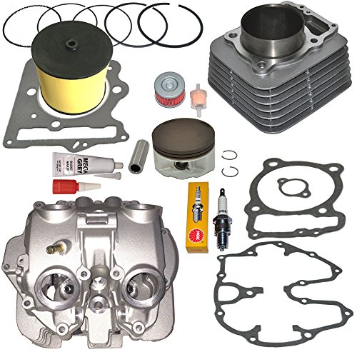 (TOP NOTCH PARTS DIRECT REPLACEMENT CYLINDER AND HEAD WITH POLISHED PORTS VALVE COVER PISTON RINGS GASKET FOR HONDA TRX400EX TRX 400EX 1999-2008)