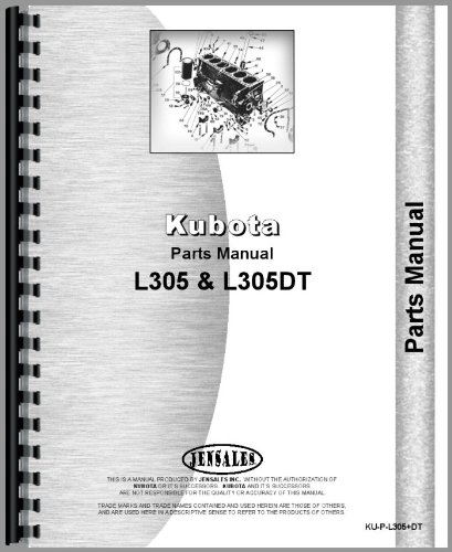 Kubota Tractor Parts Manual (KU-P-L305+DT) (Catalog Parts Dt Tractor)