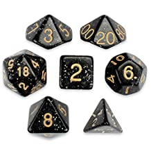 Series II Wiz Dice Set of 7 Polyhedral Dice in Velvet Pouch (STARDUST)